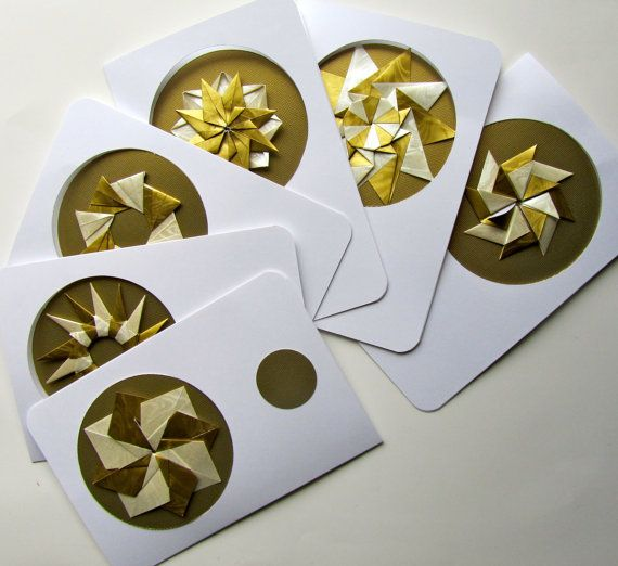 6 HOLIDAY Greeting Cards Contain DETACHABLE ORNAMENTS by BoldFolds