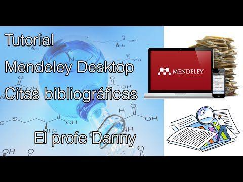 Manejo de citas bibliográficas usando Mendeley Desktop - YouTube