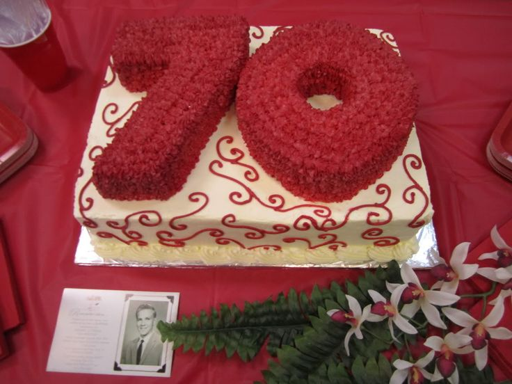 Quick  Easy  Birthday Cake Recipes On Pinterest Th Birthday - Birthday cakes 70th ladies