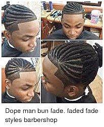 Manbun fade tress #MediumHairBraiding Cliquez pour en savoir plus …   – Medium hair braiding