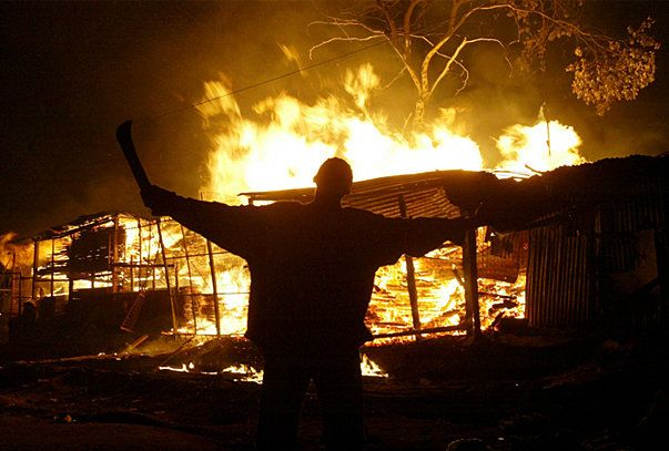 ICC Confirms Four Kenya Cases - Post-election violence in Kenya, December 2007. (Photo: The Star newspaper, Nairobi)