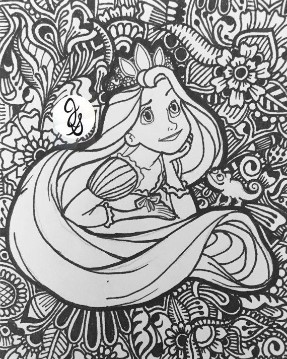 Disney Zentangle Coloring Pages : Best images about coloriage difficile disney on