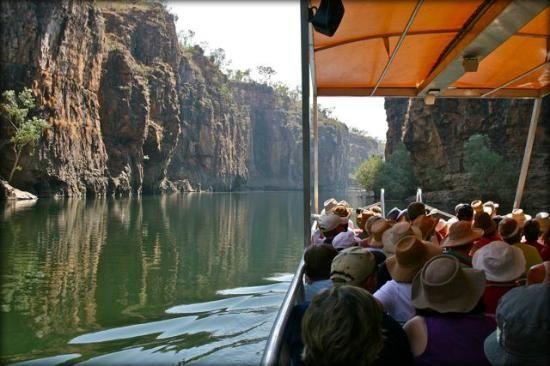 Katherine Gorge boat cruise Northern Territory #Australia