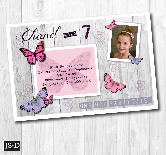 Fun Butterfly Invitation for a Birthday Party