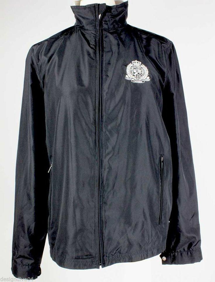 Ralph Lauren windbreaker women&39s black zip up jacket with big logo
