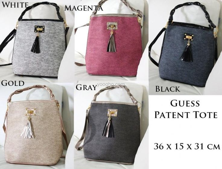 Guess Patent Tote