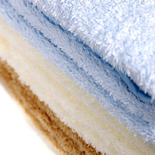Kleantech Premium kitchen towels: Eco Friendly, Replaces paper Towels to save you money, super absorbent, Soft durable material leaves dishes sparkling clean, no water spots. Antibacterial – kills 99.9% of germs on contact. (Cream, Brown, Light Blue)