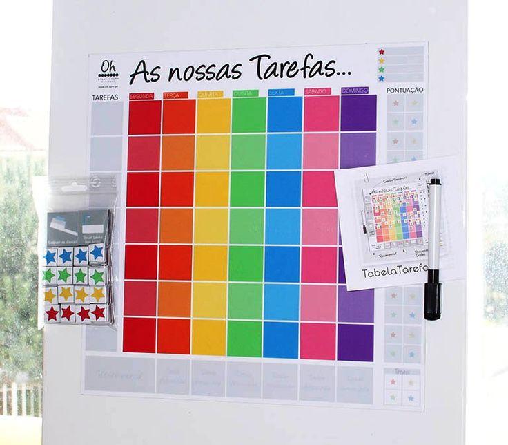Dicas de organização para as crianças – Mural de tarefas