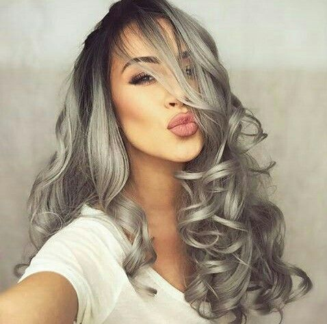 Cute grey hair