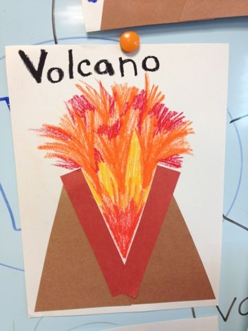 de V van vulkaan