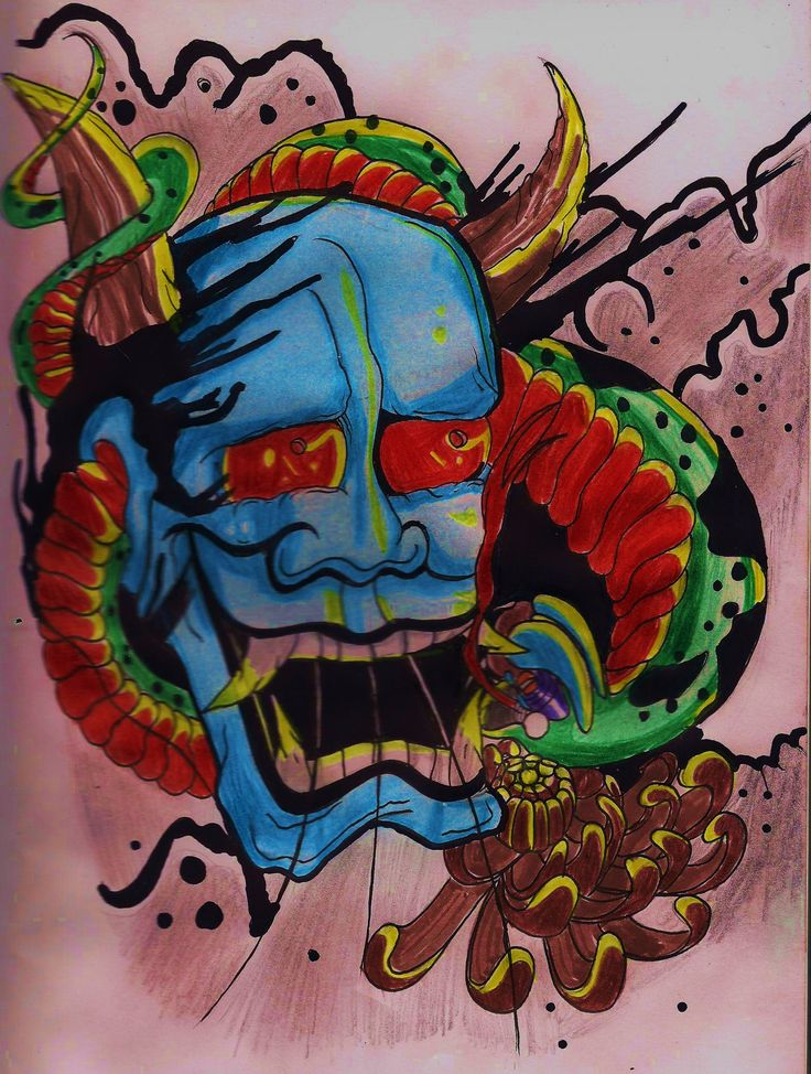 old school hannya mask