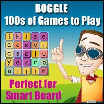 BOGGLE!: An electronic version of game the game Boggle for Windows. It is ideal for the Smartboard or Literacy Centers. It creates a new board each time you press the button. Check it out by watching this YOUTUBE VIDEO Click here to see the Boggle demonstration    FLASH FREEBIE!!!