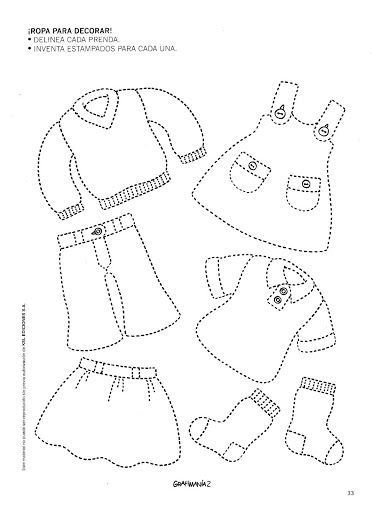trace clothes worksheet