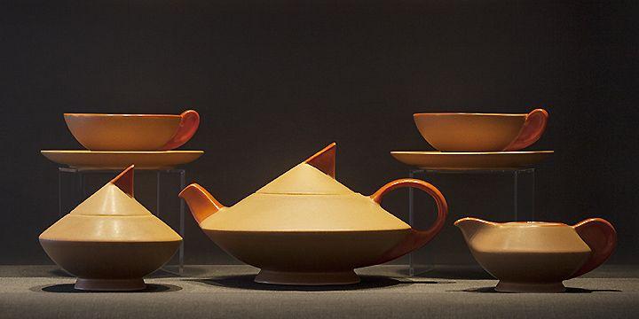 """Art Deco tea set """"Thea"""" Edmond Bellefroid, De Sphinx, c.1934 - Netherlands"""