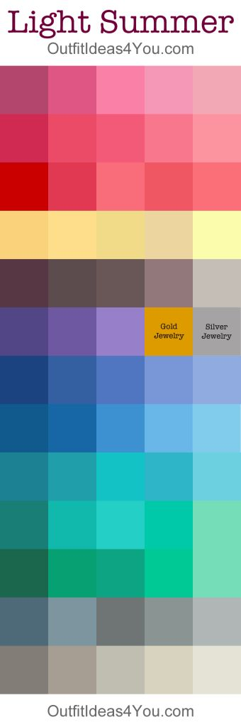 Light Summer Color Palette