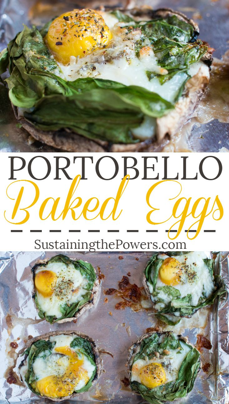 Eggs baked in portobello mushroom caps! Yum!