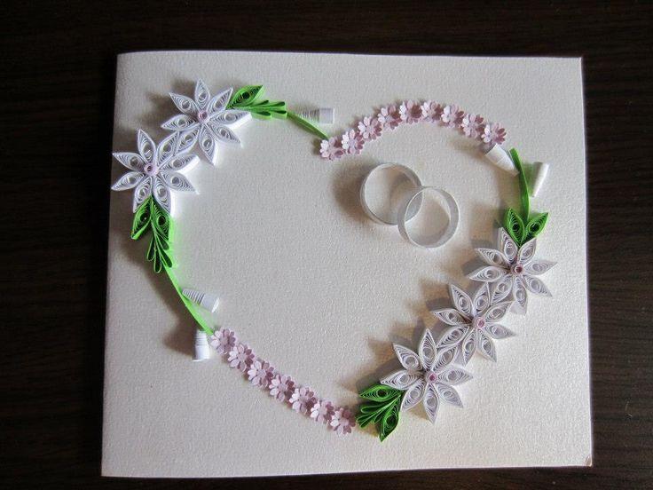 Biglietti Auguri Matrimonio Quilling : Best images about quilling matrimonio on pinterest
