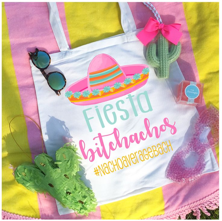 Fiesta Bitchachos Sombrero Mexican Bachelorette/Wedding Party Favor/Gift Tote Bag by dawsandgray on Etsy https://www.etsy.com/listing/545441967/fiesta-bitchachos-sombrero-mexican