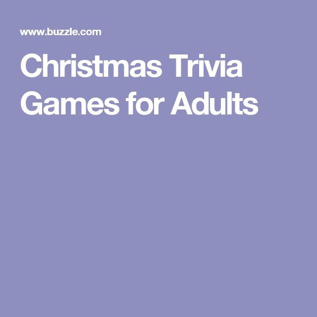 Christmas trivia games for adults