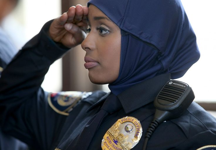 Minnesota's first hijab wearing police woman and the first Somali female officer.