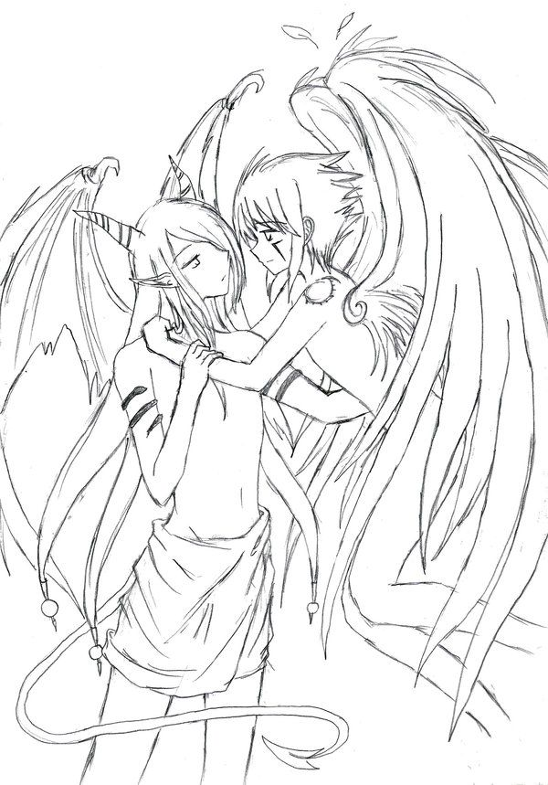 Anime Demon Boy Coloring PagesDemonPrintable Coloring Pages Free