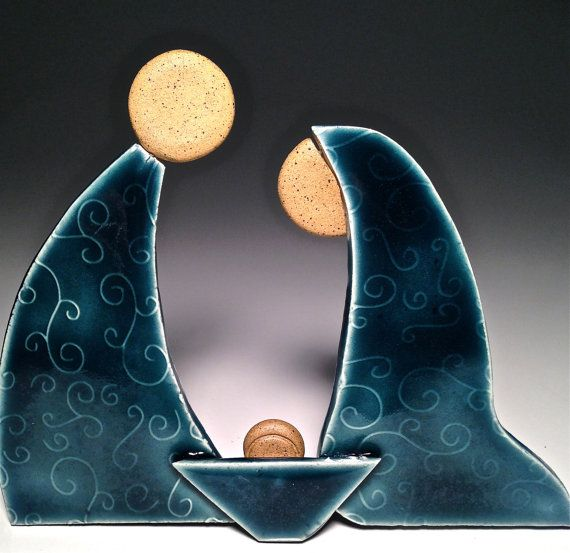 Handcrafted Pottery Nativity Set Contemporary by Potterybydaina