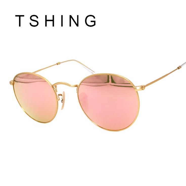 TSHING Vintage Small Round Sunglasses Women Men Classic Brand Designer Metal Pink Retro. Eyewear Type: SunglassesItem Type: EyewearFrame Material: AlloyGender: MenBrand Name: TSHING RAYLens Height: 49 mmLens Width: 42 mmStyle: RoundDepartment Name: AdultModel Number: X309Lenses Optical Attribute: Photochromic,Gradient,Mirror,Anti-Reflective,UV400Lenses Material: PolycarbonateSuitable For Face: Round Face Long Face Square Face Oval FaceStyle: sunglasses for Female, woman, girl, vintage, retro