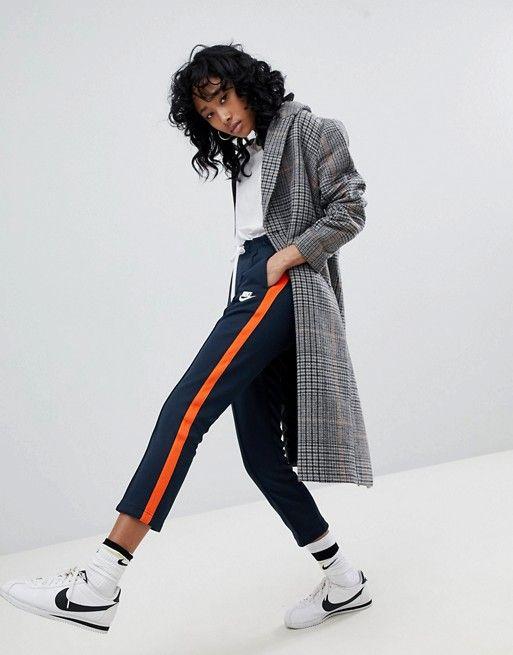 Nike Polyknit Track Pants In Blue And Orange  2c99fad71fbb9