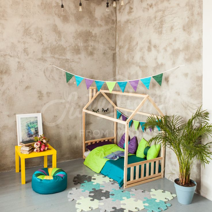 Childrens interior ideas, nursery bed, frame bed, play house, house bed, bed home, home bed, kid bed, toddler bed scandinavian design baby bed waldorf developing toys