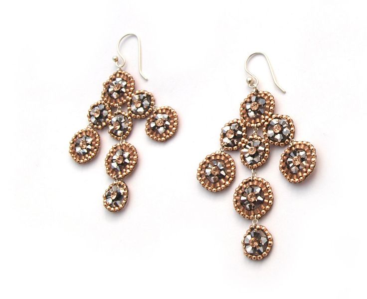 A personal favorite from my Etsy shop https://www.etsy.com/listing/489323561/silver-rose-gold-chandelier-earrings