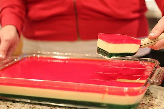 Family Favorite- Christmas Ribbon Jello Salad