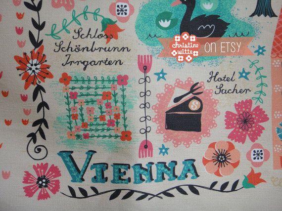 Linen-Cotton Tea Towel / Vienna / Wall Art / by ByChristineWitte