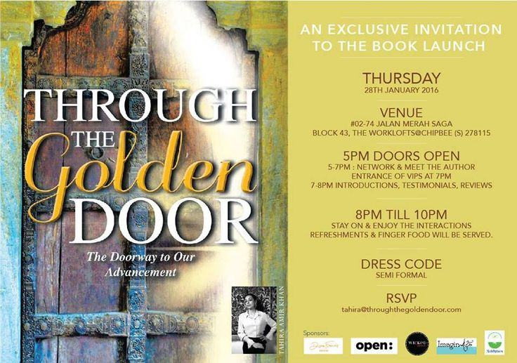 The 1st Book Launch Event Invitation Card I Will Never Forget