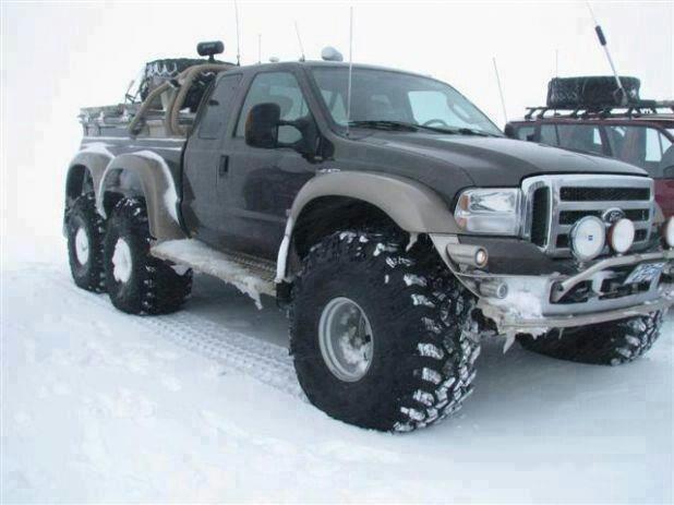 Snow 6x6 ford truck. So bad ass | Truck yea | Trucks, 4x4 ...