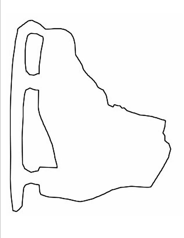 Ice Skate Template for craft - could use as choice for marble painting