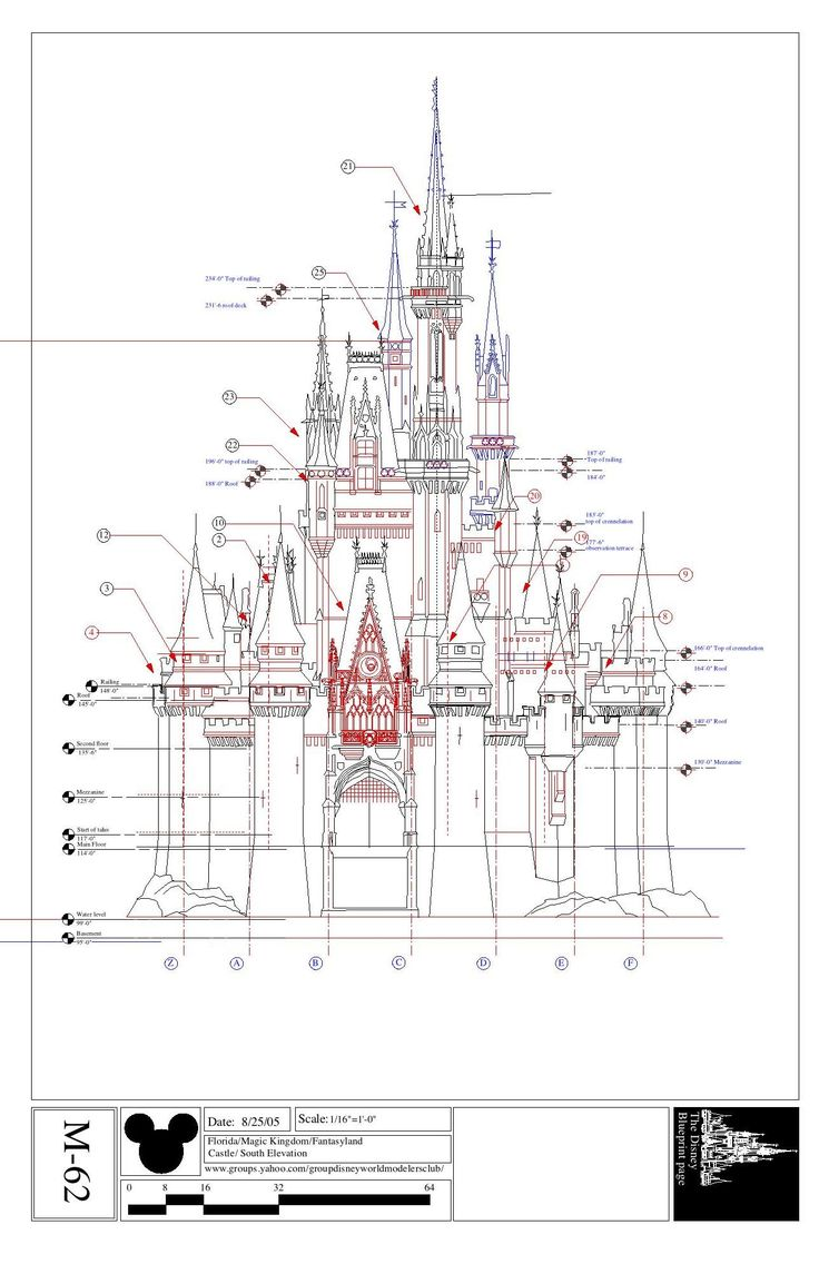 Disney Imagineering Blueprints For Cinderella 39 S Castle