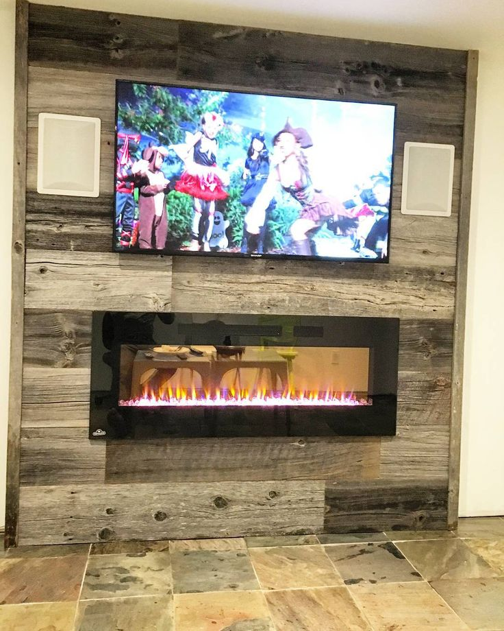 Super nice diy feature wall install by one of our customers.  This was done using our classic grey reclaimed barn board.  Nothing beats the character and charm of 100 plus year old authentic Ontario barn board.  Lots of attention to detail on this one with built in speakers and a stunning fireplace.  What wall would you clad with reclaimed barn board?  #featurewall #barnboard #reclaimed #reclaimedwood #barnwood #rusticwall #toronto  #hamilton #hamont  #ontariowood #burlington #oakville…
