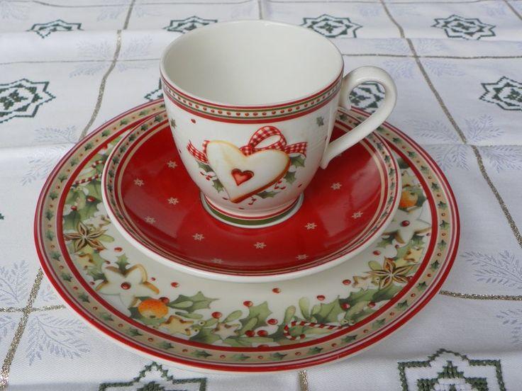 Villeroy & Boch, 3-Tlg. Kaffeegedeck, Bakery Delight, Weihnachten