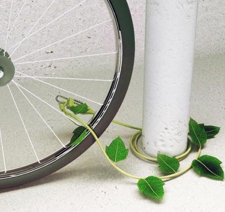 町に優しいグリーンな自転車ロック「Ivy Bike Lock」: DesignWorks  http://designwork-s.com/article/257498583.html
