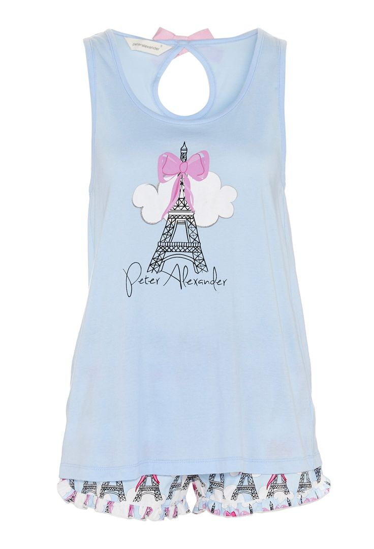 Image For Eiffel Tower Bow Tank Pj Set From Peter