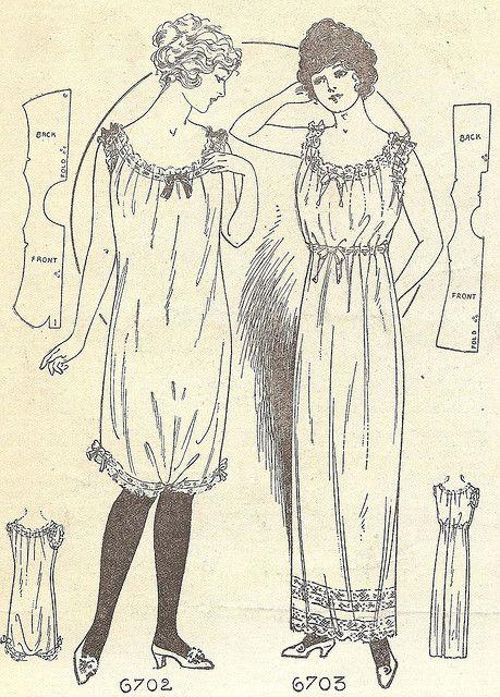 Lingerie from Needlecraft magazine, September 1914 by blueprairie, via Flickr