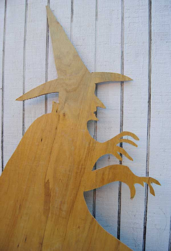 witch cutout How to Build Halloween Silhouettes For a Spooky Yard