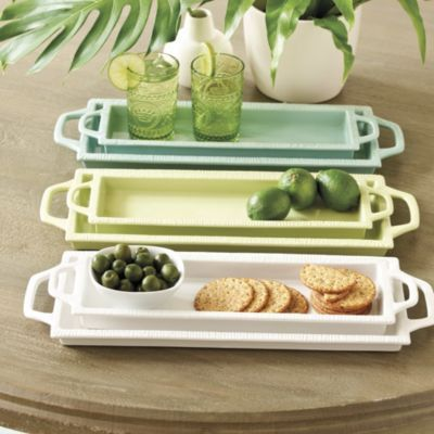Southern Living Set of 2 Rectangular Trays | Ballard Designs