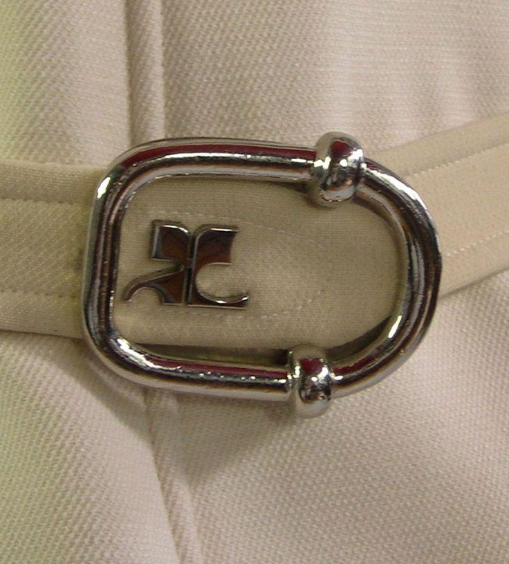 Courr232ges Ensemble Pantalon et Ceinture Logo Jersey