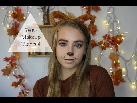 Easy Halloween Makeup - Teddy Bear ❤︎ Kate Hall - YouTube