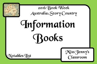 Miss Jenny's Classroom: Book Week 2016: Information Books