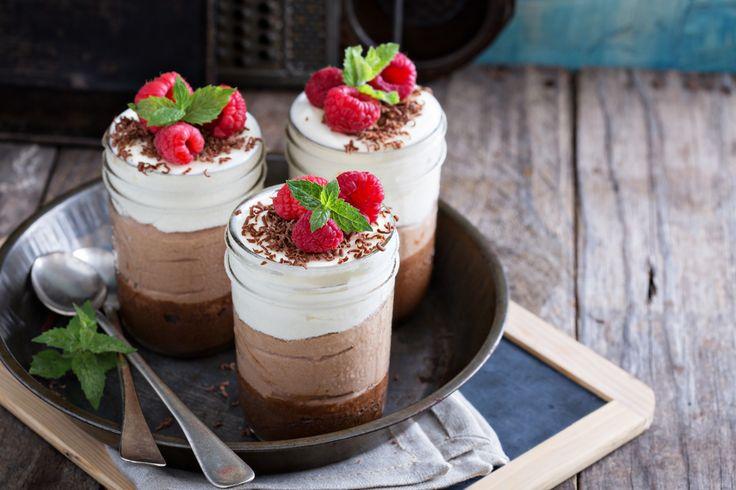 Receta de mousse de chocolates fresco y delicioso.