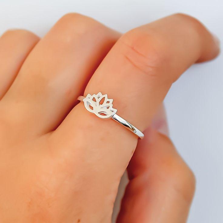 Lotus Flower Ring | Bohemian Jewellery | Indie and Harper