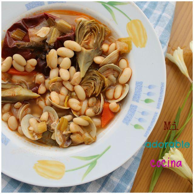 Mi adorable cocina alubias con alcachofas y almejas un for Platos rapidos