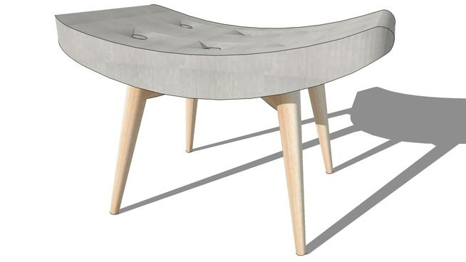 repose pied gris iceberg maisons du monde ref 138823. Black Bedroom Furniture Sets. Home Design Ideas